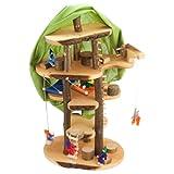 Decor-Spielzeug 'Baumhaus Traum' ca. 60 cm groß - mit viel Zubehör und inkl. Filzpüppchen - Puppenhaus Holzspielzeug