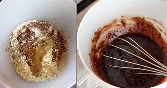 Zutaten mischen um Schokolade selber herzustellen