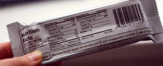 QuestBar Nährwerte Kalorien