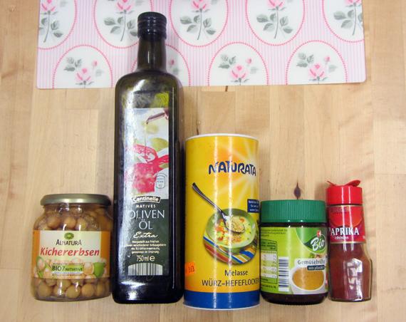Zutaten für einen gesunden Chipsersatz, fettarm und kalorienarm
