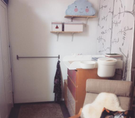 Babyzimmer mit Wickelaufsatz für Malm Kommode IKEA