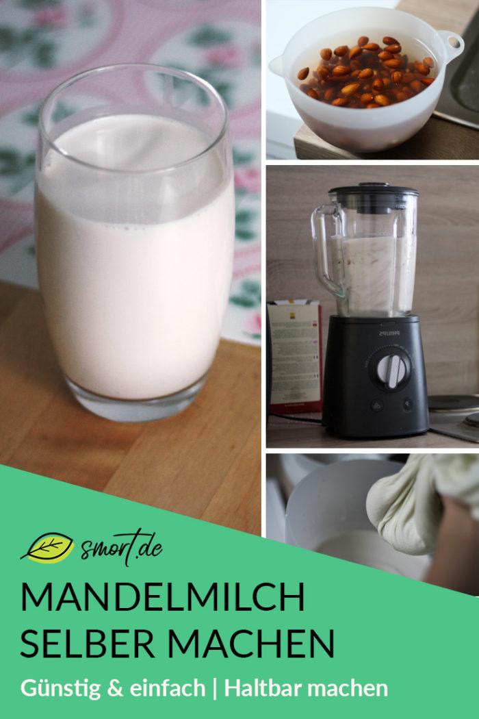 Rezept für Mandelmilch selber machen und haltbar machen