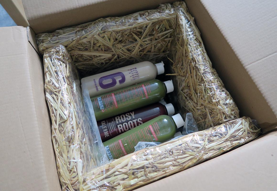 kaleandme saftkur 3 tage paket stroh-verpackung test