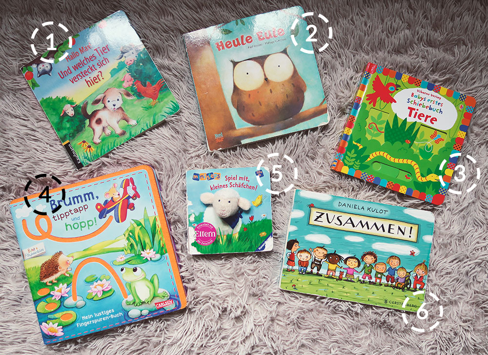 Die besten Kinderbücher ab 1 Jahr für Babys und Kleinkinder