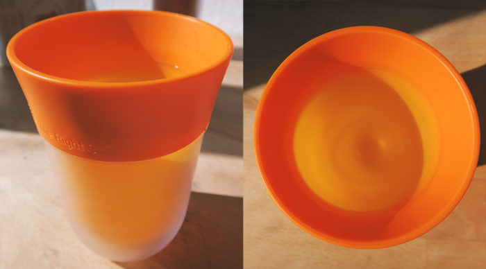 The Right Cup - Becher Foto Details Orange
