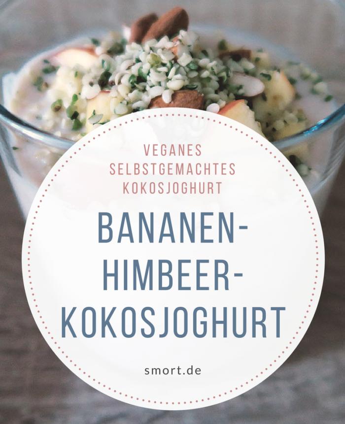 Bananen-Himbeer-Kokosjoghurt mit Apfel