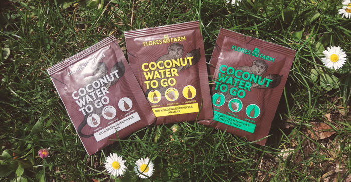 Coconut TO GO Beutel Kokoswasserpulver alle Sorten Flores Farm