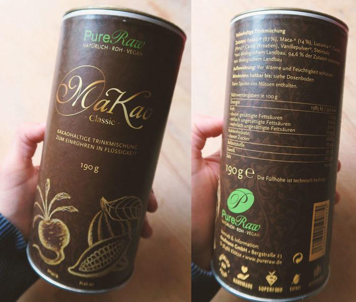 Gesunder Kakao ohne Zucker MaKao von PureRaw