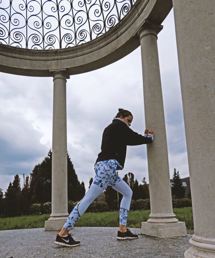 Röhnisch DORIT - Tights - Sporthose weiß mit Porzellanmuster