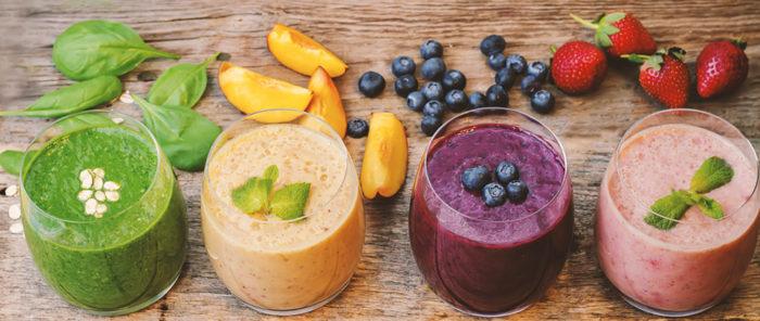 Smoothies Rezepte mit Frucht & Gemüse für Kinder #vegan #snacks #zuckerfrei