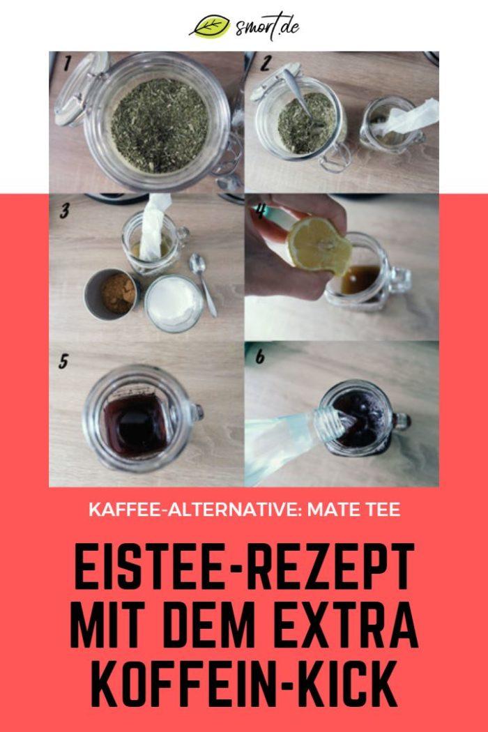 Einfaches & gesundes Mate Eistee-Rezept - hat mehr Koffein wie eine Tasse Filterkaffee | Gesunde Kaffee-Alternative im Test #zuckerfrei #vegan #kaffee #alternative