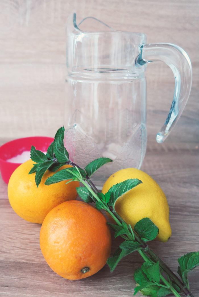 Erfrischend & gesund: Limonade selber machen ohne Zucker mit Orangen & Zitronen- schnell & einfach #diy #zuckerfrei #abnehmen #diät #gesundheit
