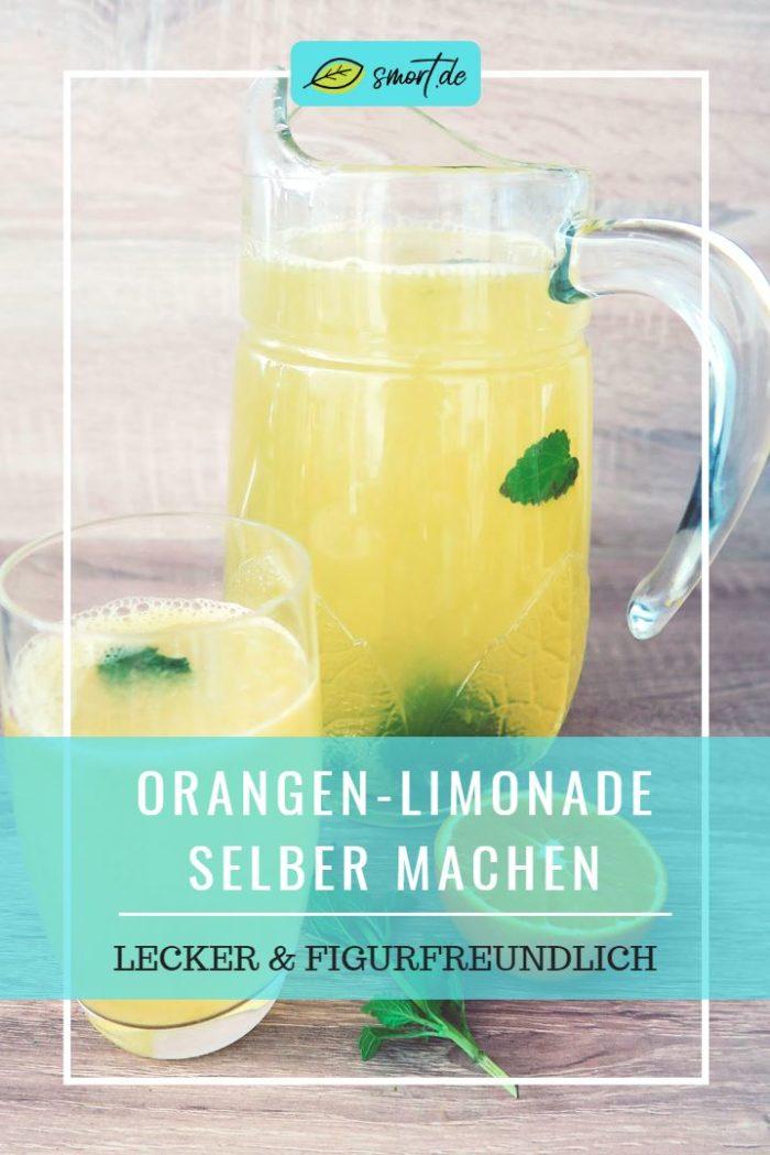 Gesunde Limonade selber machen ohne Zucker. Die leckere Orangen-Zitronen-Limonade ist in unter 10 Minuten schnell & einfach zubereitet, zudem ist sie dank Xylit (Birkenzucker) kalorienarm sowie figurfreundlich. Eine gesunde Limo-Alternative für die ganze Familie, sehr beliebt auch bei Kindern. #rezept #zuckerfrei #minze #gesundheit #zuckeralternativen #erythrit #kokosblütenzucker #diät #abnehmen
