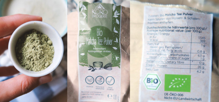 Erfahrung Test mit BIO Matcha Tee Pulver von KoRo Drogerie