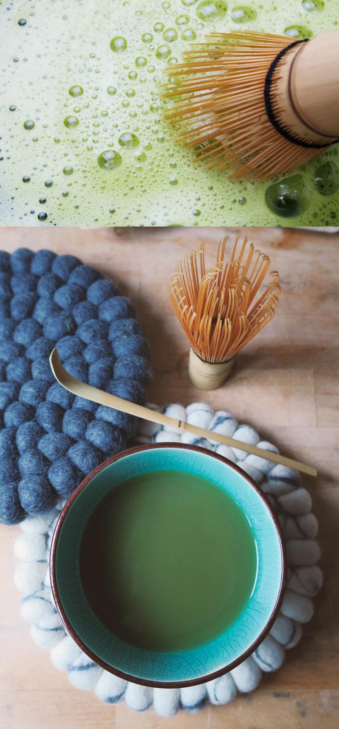 Rezept: Matcha Tee selber machen als gesunde Kaffee-Alternative mit viel Koffein (oder auch als Matcha Latte mit Pflanzenmilch / warm oder kalt) - vegan & gesund - schnell & einfach - Vorteile & Wirkung von Matcha: hohen Wert an Antioxidantien, Vitamine, Mineralien, stärkt das Immunsystem und wirkt entzündungshemmend - macht wach, langsame belebende Wirkung und steigert die Konzentration | zuckerfreie Getränke | Recipe