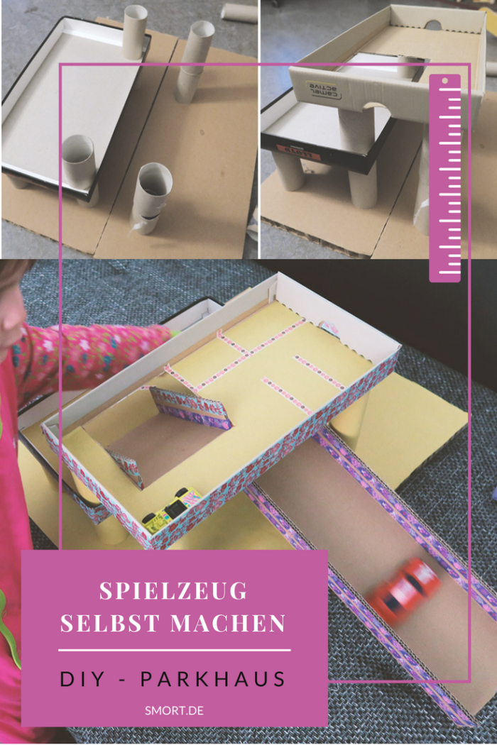 Spielzeug selbst machen - DIY Parkhaus Garage