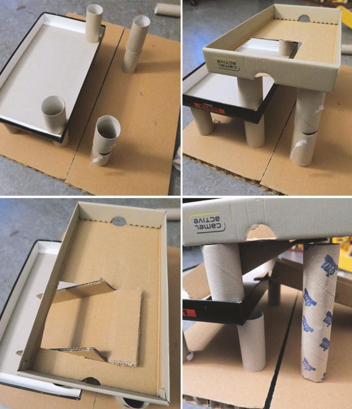Spielzeug selber machen - eine Anleitung für ein Parkhaus aus Pappe