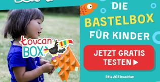 toucanBox bastelbox für kinder rabatt gutschein online voucher