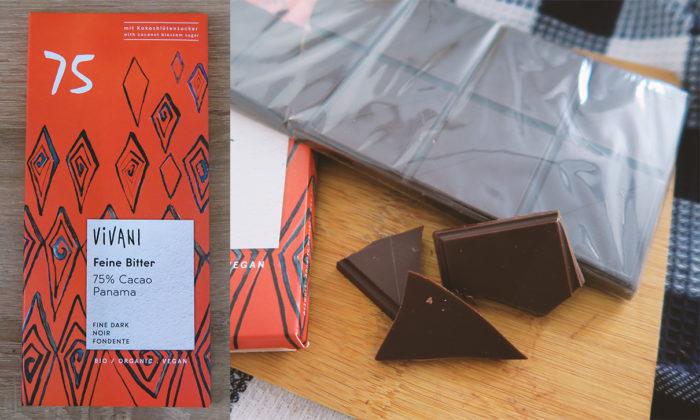 VIVANI gesunde Schokolade mit Kokosblütenzucker gesund