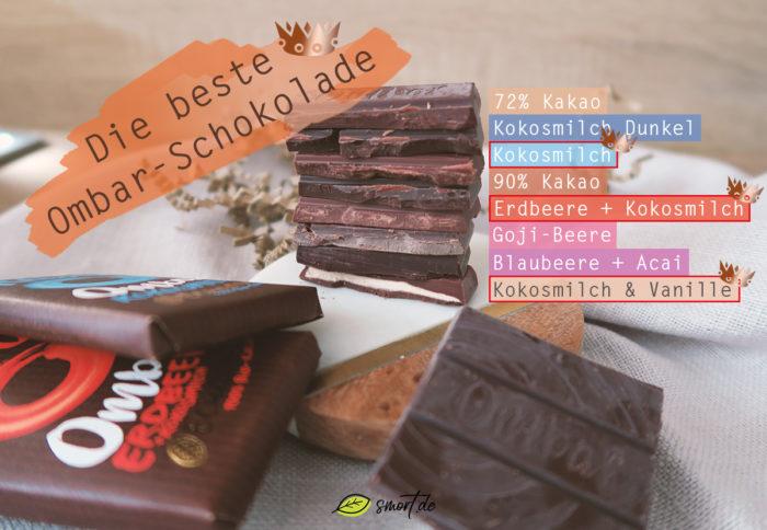 Gesund und lecker: Ombar - rohe und vegane Schokolade im Test (8 Sorten im Geschmacksvergleich)