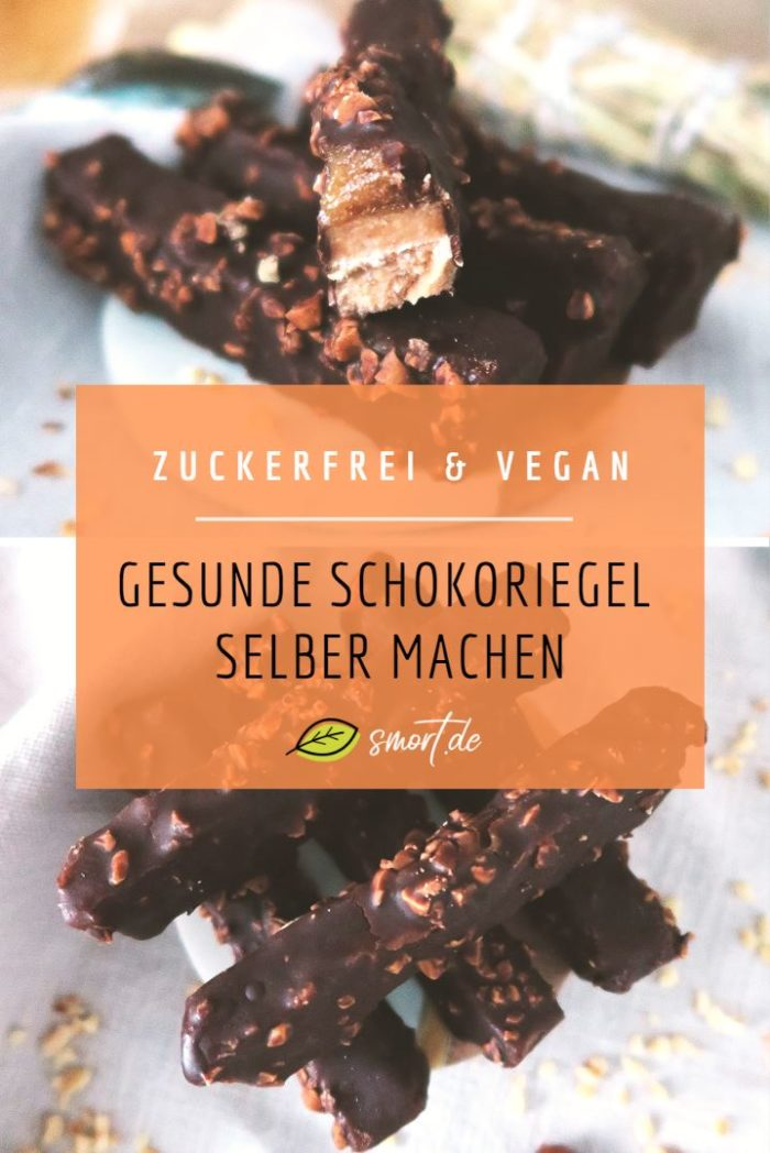 Rezept: Einfach gesunde Schokoriegel selber machen | vegan, zuckerfrei (ohne weißen Zucker) und ohne Backen. Ein Biskuitteig mit einer feiner Dattel-Karamellschicht - wie Twix | DIY | Gesunde Süßigkeiten | Roh, Rohkost