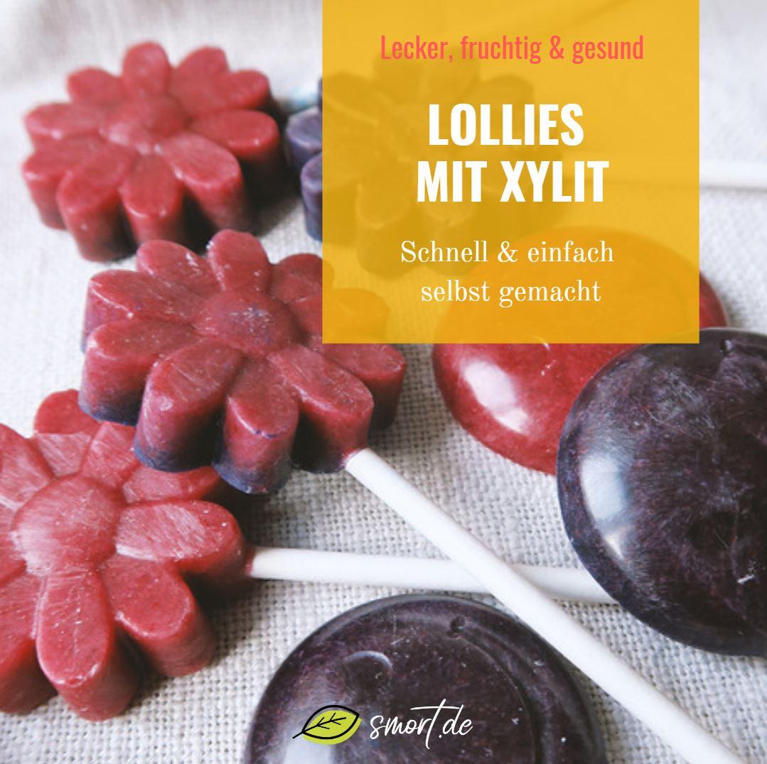 Fruchtige und gesunde Lollies selbst gemacht mit Xylit ohne Zucker - für Kinder