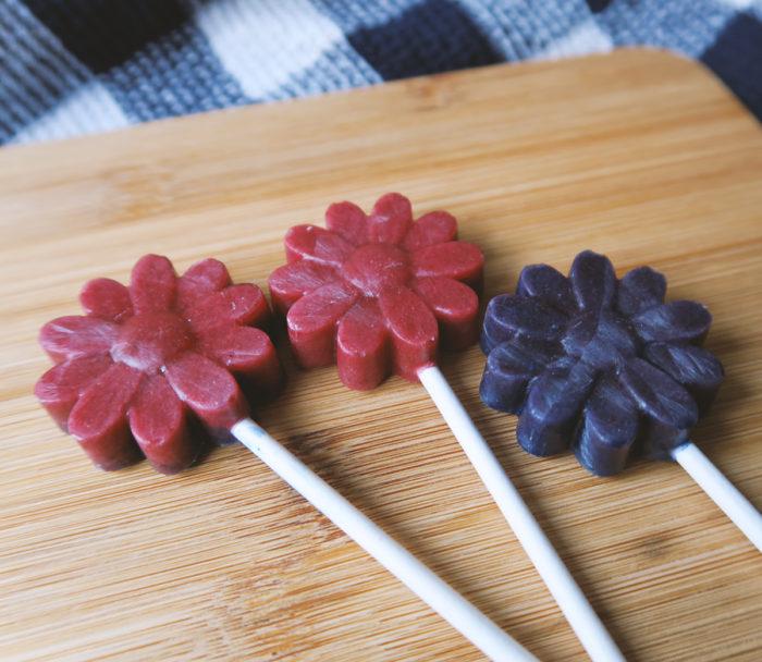 DIY | Lollies selber machen ohne Zucker - mit Fruchtpulver und Xylit