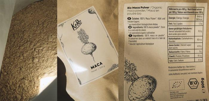 BIO Maca Pulver von KoRo Drogerie: Wirkung & Test