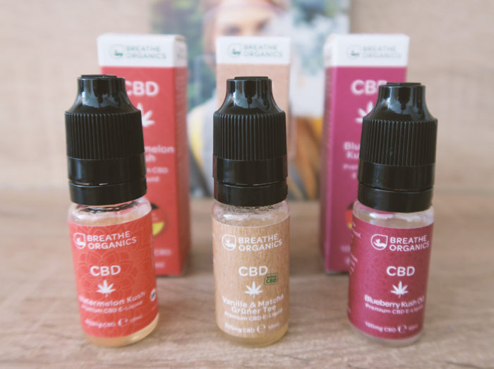 Erfahrung mit CBD Liquids von Breathe Organics