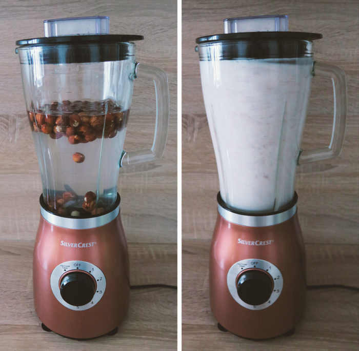 Rezept: Einfach, schnell & günstig Haselnussmilch selber machen