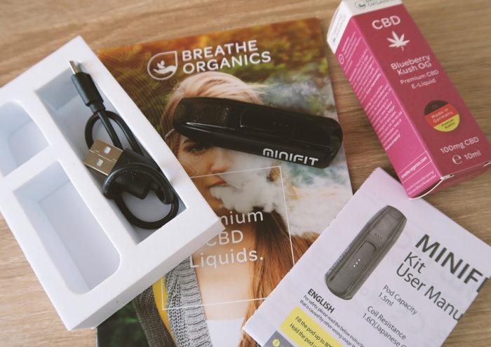 Starter Set E-Zigarette Minifit von Justfog mit CBD Liquid nach Wahl
