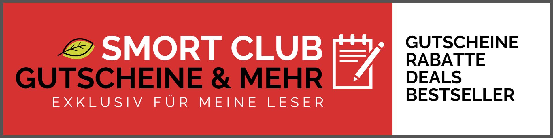 Smort Gutschein Club - exklusive Gutscheine, Rabatte, Deals, Voucher und Bestsellerlisten für Blogleser von smort.de
