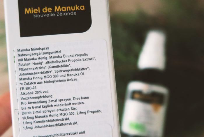 Inhaltsstoffe: Manuka-Propolis-Spray