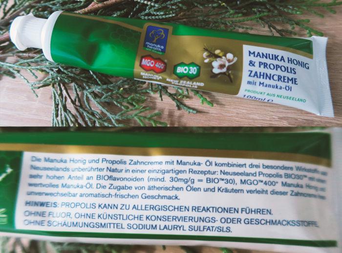 Zahnpasta gegen Aphten: Manuka-Propolis