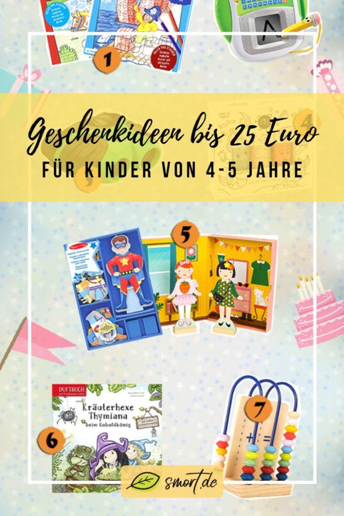Eine abwechslungsreiche Liste mit kleinen Geschenke für Kinder bis 25 Euro von 4-5 Jahre - Mädchen & Junge #ideen #geburtstag #spielzeug #kleinkind