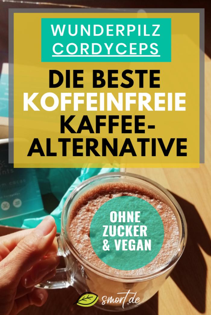 Natürliche & gesunde Kaffee-Alternative: Mushroom Kakao als Energie-Booster - ohne Zucker, koffeinfrei und vegan. Schmeckt wie heiße Schokolade, erhöht Energie, Leistung & Konzentration und ist ein perfekter Ersatz für Kaffee. #gesundheit #getränk #snacks #wirkung #vitalpilze #alternativen #zuckerfrei